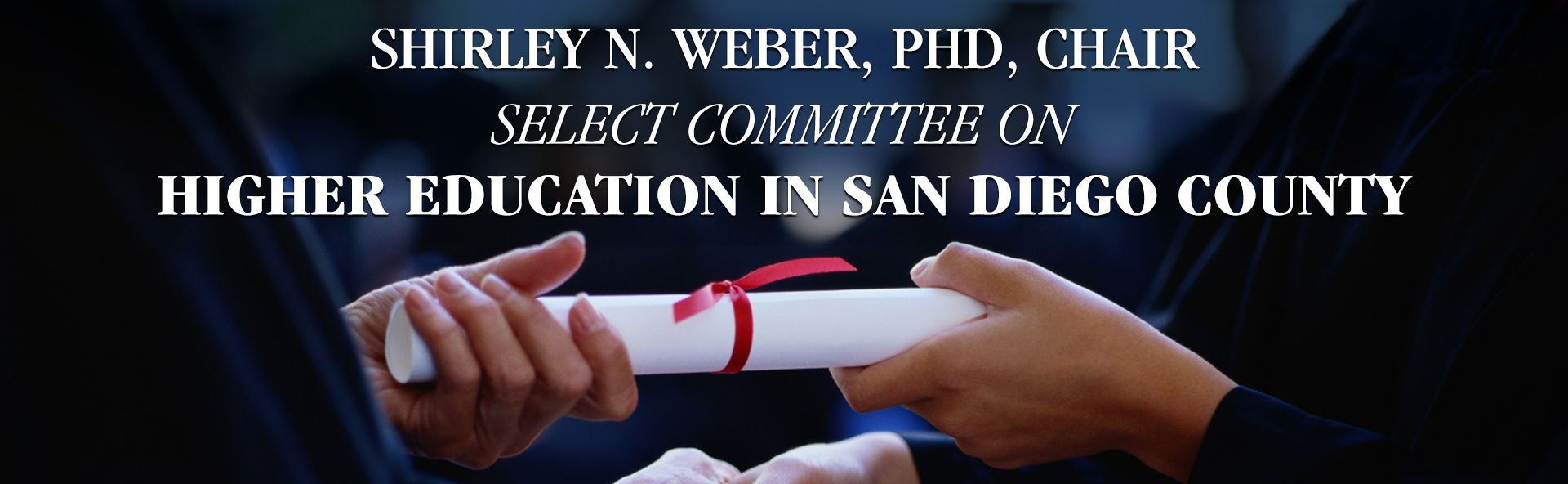 Select Committee on Higher Education in San Diego County