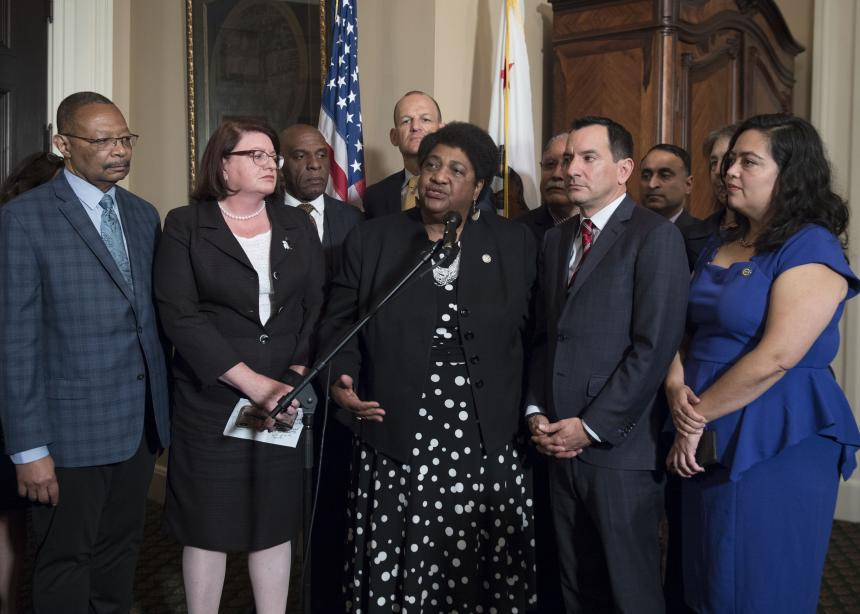 AB 392 Speaking at a press availability after Assemby Floor vote